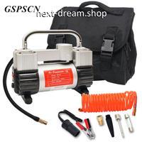 車 セット 12V金属空気圧縮機ポンプ ツールボックス 道具箱 ダブルシリンダー 新品送料込 m00331
