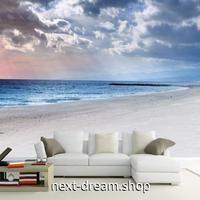 3D 壁紙 1ピース 1㎡ 自然風景 海と砂浜 夕暮れ時 雲  インテリア 装飾 寝室 リビング 耐水 防カビ h02464