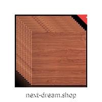 ウォールステッカー 3D壁紙 60×70cm 10枚セット 木の板 ハンドメイド感 ブラウン 防水 リフォーム キッチン・古いドアにも m02750