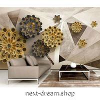 カスタム3D壁紙 1ピース 1㎡ フラワーアート ブラウン 5D素材 部屋 リビング 寝室 ショップ ウォールペーパー m05865