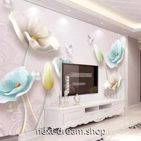 3D 壁紙 1ピース 1㎡ 北欧モダン フラワー 花 DIY リフォーム インテリア 部屋 寝室 防湿 防音 h03206