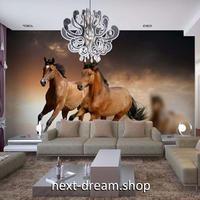 3D 壁紙 1ピース 1㎡ 自然風景 動物フォト 走る馬 インテリア 装飾 寝室 リビング 耐水 防湿 h02509