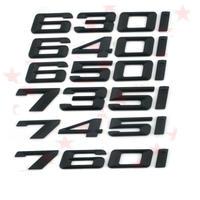 BMW エンブレム リア ステッカー ブラック 630i 640i 650i 735i 745i 760i h00271