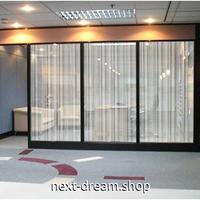 ウィンドウフィルム スモーク 目隠しシート パーテーション 50×600cm  白 縦ストライプ オフィス ガラス窓 m02830