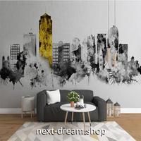 3D 壁紙 1ピース 1㎡ アートデザイン モノクロ都市 おしゃれクロス リビング 寝室 客室 m03346
