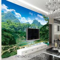 3D 壁紙 1ピース 1㎡ 自然風景 山中の滝 癒し インテリア 装飾 寝室 リビング h02267