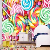 カスタム3D壁紙 1ピース 1㎡ ロリポップ キャンディ カラフル おうち時間充実 子供部屋 キッチン 寝室 リビング m03522
