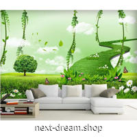 3D壁紙 1ピース 1㎡ 自然風景 メルヘン 草原 インテリア 寝室 リビング ショップ 耐水 防カビ m04344