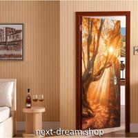 【ウォールステッカー】 絵画 壁紙 DIY 部屋装飾 PVC 寝室 リビング 200×77cm 夕日 紅葉 自然風景 m02137