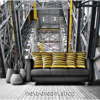3D 壁紙 1ピース 1㎡ 大型ステレオスペース インダストリアル 奥行き立体デザイン 鉄 リビング 寝室 客室 m03360