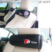 アウディ ネッククッション カーボンファイバー S line RS 枕 Audi A1 A3 A4 A6 A7 A8 TT Q3 Q5 Q7 h00296