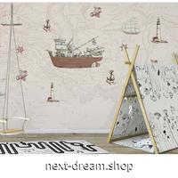 カスタム3D壁紙 1ピース 1㎡ 世界地図 航海 船 コンパス 部屋 リビング 寝室 ウォールペーパー m05828