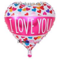 ロゴ風船 I LOVE YOU 50個パック ハート型   飾り デコレーション  誕生日 結婚式 イベント パーティ  ふうせん バルーン   m01205