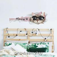 【ウォールステッカー】壁紙 DIY 部屋 シール 寝室 リビング インテリア 25×70cm イラスト 猫 ねこ m02318