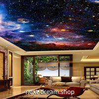3D 壁紙 1ピース 1㎡ 宇宙風景 星空 惑星 天井用 インテリア 装飾 寝室 リビング 耐水 防湿 h02635