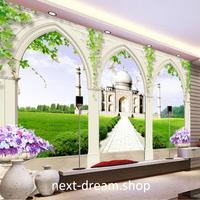 3D 壁紙 1ピース 1㎡ 自然風景 テラスからの景色 宮殿 インテリア 装飾 寝室 リビング 耐水 防カビ h02433