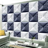 3D 壁紙 1ピース 1㎡ 北欧モダン ブロック バイカラー 薔薇 インテリア 部屋装飾 耐水 防湿 防音 h02848
