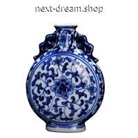 新品送料込  花瓶 磁器 青×白 手塗り セラミック 柄模様 アンティーク ヴィンテージ 高級装飾 ホームインテリア 贈り物  m00543