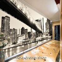 3D 壁紙 1ピース 1㎡ シティ風景 夜景 モノクロ DIY リフォーム インテリア 部屋 寝室 防湿 防音 h03334