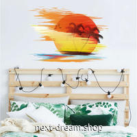 【ウォールステッカー】壁紙 DIY 部屋 装飾 寝室 リビング インテリア 50×70cm イラスト ヤシの木 夕日 太陽 m02242