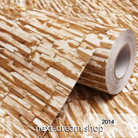 3D壁紙 60×500cm 石レンガ モダン ベージュブラウン DIY リフォーム インテリア 部屋/リビング/家具にも 防水 PVC h03990