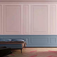 壁紙 立体壁デザイン ピンク+ブルー wood 1ピース 1㎡ サイズカスタマイズ可能 部屋 ショップ 店舗 m06174