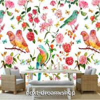 3D 壁紙 1ピース 1㎡ 花柄 インコ 蝶々 ボタニカル インテリア装飾 寝室 リビング 客室 豪華  アートm03299