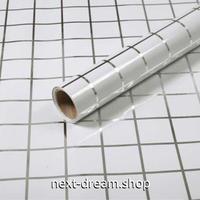 ウォールステッカー 壁紙 60cm×5m 防水 防油 タイル ホワイト 家具リフォーム キッチン・お風呂・古いドアに m02711