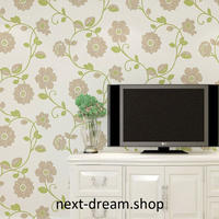 3D 壁紙 53×1000㎝ 花柄 おしゃれ DIY 不織布 カビ対策 防湿 防水 吸音 インテリア 寝室 リビング h02120