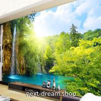 3D 壁紙 1ピース 1㎡ 自然風景 山中の滝 癒し インテリア 装飾 寝室 リビング h02272