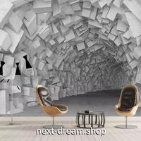 3D 壁紙 1ピース 1㎡ 立体空間 石の洞窟 幾何学 DIY リフォーム インテリア 部屋 寝室 防湿 防音 h03087