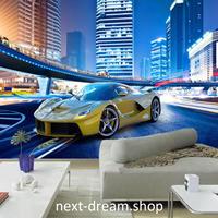 3D 壁紙 1ピース 1㎡ スポーツカー 街 シティ 防カビ 耐水 おしゃれ クロス インテリア 装飾 寝室 リビング h01804