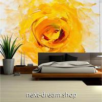 カスタム3D壁紙 1ピース 1㎡ アートペイント 黄色い薔薇 ローズ おうち時間充実 おしゃれ キッチン 寝室 リビング m03510