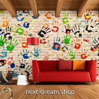 3D 壁紙 1ピース 1㎡ ヨーロッパモダン レンガ 手形 インテリア 部屋 寝室 リビング 防湿 防音 h03013