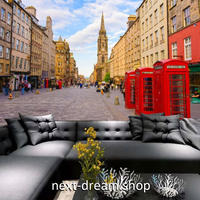 3D 壁紙 1ピース 1㎡ シティ風景 ヨーロッパ 電話ボックス DIY リフォーム インテリア 部屋 寝室 防湿 防音 h03366