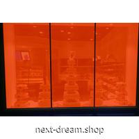カラーウィンドウフィルム / ガラスステッカー 152×300cm オレンジ 紫外線 UV 日射ブロック パーティデコ m03080