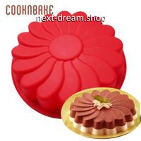 新品送料込  製菓型 耐熱 シリコントレー 3D キャビティ  手作りチョコ ケーキ スポンジ  花型 デコ  誕生日 バレンタイン 子供が喜ぶ  m01030