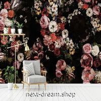 3D 壁紙 1ピース 1㎡ ヨーロッパスタイル 花 薔薇 レトロ インテリア 部屋装飾 耐水 防湿 防音 h02882