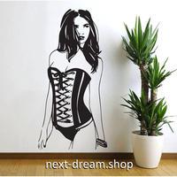【ウォールステッカー】 可愛い ピンナップガール 壁 デカール ジム 女性 ボディメイク 92×54cm m02120