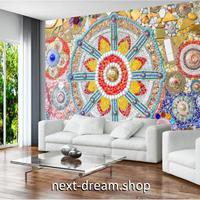 3D 壁紙 1ピース 1㎡ ヨーロッパ ヴィンテージボヘミアン ヒスイ モザイク 可愛い おしゃれ キッチン 寝室 客室 m03377