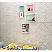 【3D壁紙】 70×70cm 厚さ5ミリ 立体壁画デザイン 白 接着剤付 高級クロスステッカー 部屋 リビング ショップ 防水 m04018
