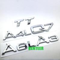 アウディ ステッカー ABS A3 A4 A4L A5 A6 A6L A7 A8 A8L バッジ  リア ボディ エンブレム Audi h00354