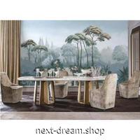 【カスタム3D壁紙】 1ピース 1m2 植物 レトロ 雨林 風景 自然 カフェ 店 キャンバス地 クロス張替 部屋 m05335