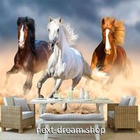 3D 壁紙 1ピース 1㎡ 油絵タッチ 躍動感 馬 ホース インテリア 装飾 寝室 リビング 耐水 防湿 h02578