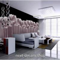 カスタム3D壁紙 1ピース 1㎡ 紫 チューリップ 花 5D素材 部屋 リビング 寝室 ショップ ウォールペーパー m05843