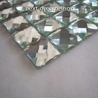 3D壁紙 30×30cm 11枚セット ミラーガラス 光沢 シルバー DIY リフォーム インテリア 部屋/浴室/トイレにも h04466