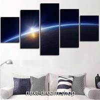 【お洒落な壁掛けアートパネル】 5点セット 宇宙 惑星 太陽 地球 絵画 ファブリックパネル インテリア m04825