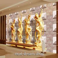 3D 壁紙 1ピース 1㎡ 立体アート 仏像 彫刻デザイン インテリア 部屋 寝室 リビング 防湿 防音 h03004