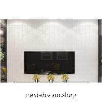 【3D壁紙】 70×70cm 厚さ5ミリ 10枚パック しっかりとした木の板デザイン 白い木 接着剤付 高級クロスステッカー 部屋 防水 m04002