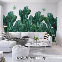 3D 壁紙 1ピース 1㎡ アートデザイン 北欧風 サボテン 立体絵画 リビング 寝室 客室 m03348